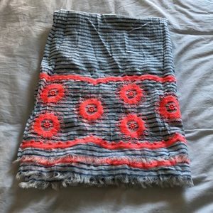 J Crew embroidered scarf